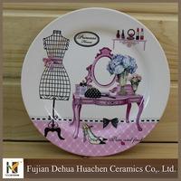 modern design colorful ceramic pizza plates