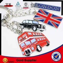 Mini car/ wecker/bus/ United kingdom flag shape metal key chain holder