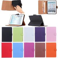 for ipad mini 1 2 3 genuine leather case, Plain Genuine leather case for iPad Mini 1 2 3