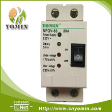 New Type NPQV-63 series full automatic self-restoration over voltage & under voltage Protector(MCB, MCCB, )