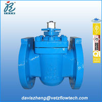 4 in Class150 RF end fire safe non lubricated PTFE sleeved plug valves with packing stuff