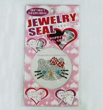 DIY hello kitty cell phone diamond sticker/mobile phone jewelry sticker/crystal sticker
