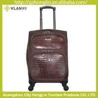 Low price high quality carry on crocodile leather luggage