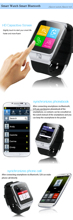 smart bluetooth watch phone sync connect with iphone and android phone
