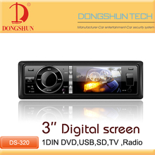 On dash 3inch 1 din head unit with TV