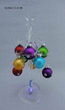 2015 New Designed Glass Christmas Decoration Tree for holiday decorations