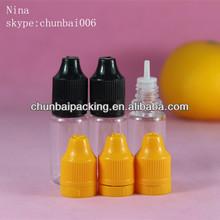 ISO8317 10ml pet engine oil plastic bottle plastic dropper bottle clear bottle long thin tip