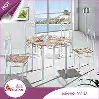 Foshan furniture wood dinner table designs 4 seater model restaurant round dining table set