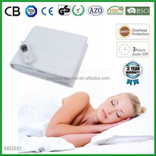 BSCI Manufacturer Wholesale Auto Off Fashion Polyester Extra Twin Electric Blanket