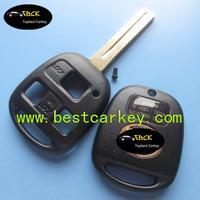 TopBest 3 button remote key shell for lexus key key lexus TOY 48 blade