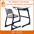 Metal aula de mesa y silla