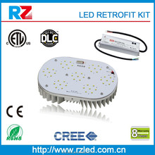 Aluminum Alloy Lamp Body Material and ETL/cETL/DLC/CE/RoHS Certificate led retrofit kits shoebox