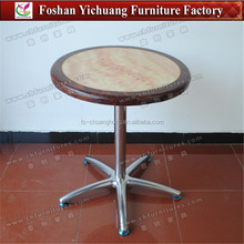YC-T192 Strong Marble Stainless Steel Bar Tables Wholesale