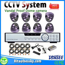 explosion proof dome camera outdoor 8ch cctv dvr set