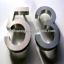Decorative Polished/Brushed Stainless Steel Word