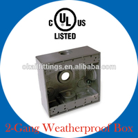 3 Holes Aluminum One Gang Weatherproof Box FSB