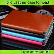 High quality slim flip cover custom geniuen leather case for ipad air ,for ipad case genuine leather ,for ipad air case