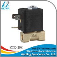 "1/8"" Brass Steam Hot Water Coffee Vending Machine 110V 230V Solenoid Valve ZCQ-20E"