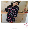 Super Soft Printing Coral Fleece Bathrobe For Promotion
