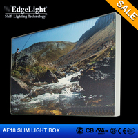 Edgelight 2015 new product single side indoor advertising light box for display use