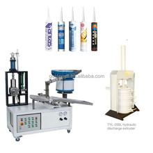 Semi-automatic filling machine for silicone sealant, cartridge type