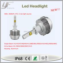 DC6V-70V new design 3600lm h4 led headlight, motorcycle led headlight, led motorcycle headlight