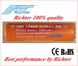 30A high ratio 18650 battery wholesale alibaba IMR18650 3.7v 1500mAh rechargeable battery for dewalt