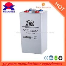 Tubular gel battery 2v 1000ah solar OPzV1000-2 for UPS
