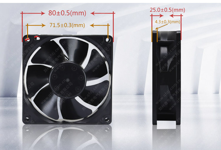 80mm dc 48v CE CCC RoHS approved motor fan for control module