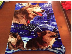 printed dogs blanket 100% polyester luxury gorgeous soft blanket high qulity blanket