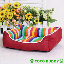 New Design Rainbow Stripe Pet Dog Sofa Easy to Clean