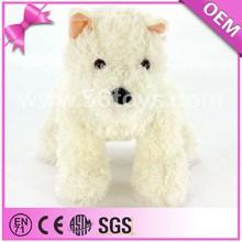 Plush Animal Manufacturer 30 cm Lifelike White Plush Puppy