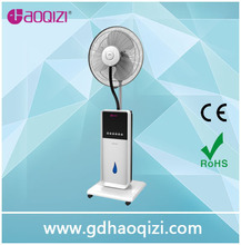 "16""stand mist water fan indoor 8 hours 1.8L water tank"