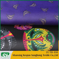 2015 hot sale paper print lining fabric manufacture for garment or bags