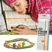 colorful silicone bookmark with pointing finger good assistant for reader
