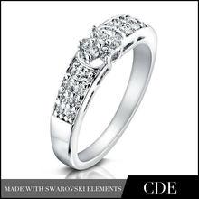 Women's Fashion Dubai White Gold Jewelry Ring Model