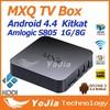 Original online update TV Box Pre-installed Kodi 14.2 Fully Loaded IPTV Android TV Box MX Amlogic S805 Quad Core Mxq OTT TV Box