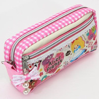 Cute cheap pencil case pink kids pencil case for girls