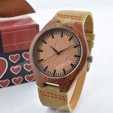 SY-35277 natural wooden watch man & lady japan quartz watch wood