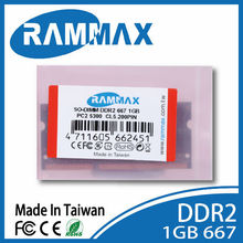 Rammax wholesale price ddr2 677MHz 1gb laptop note book