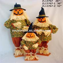 Zucca spaventapasseri decorazioni/spaventapasseri halloween