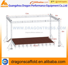 Aluminum lighting truss with stage for outdoor show