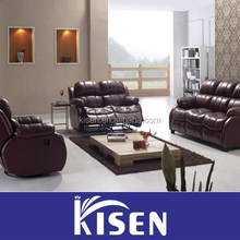 luxury furniture italy leather recliner living room sofa