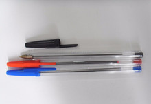 Promiton neweset logo plastic ball pen simple and easy with clip cap BSCI FACTORY