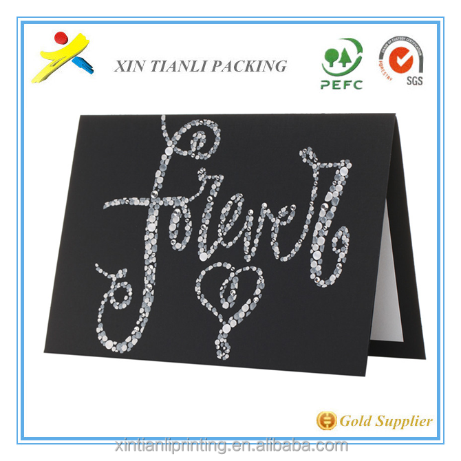2015 New Design Wedding Invitation Card Greeting Card With Envelope