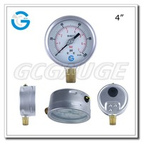 High quality 4 inch 100 mm bourdon tube wika type manometer with bottom connection