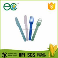 Biodegradable plastic cutlery/knife/fork/spoon