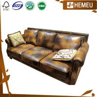 SF21402 Antique original genuine leather design for sofa set images