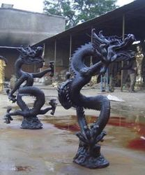 bronze outdoor dragon statues