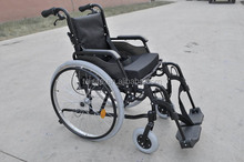 """24"""" quick release back wheel and 6"""" air front caster aluminium folding wheelchair"""